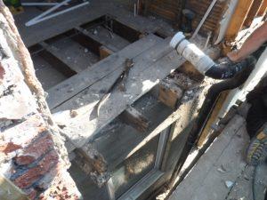 1 Rotten floor joists bathroom floor